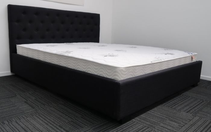 Queen Black Upholstered Bed And Luxury, Upholstered Bed Frame Queen Black