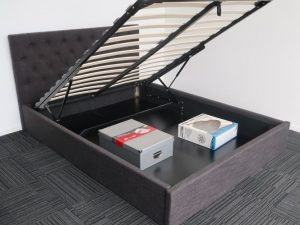 Charcoal Upholstery Storage Bed Frame