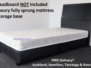 King Single Black Base & Luxury Mattress