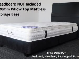 King Single Black Base & Pillow Top Mattress